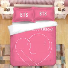 3D BTS Korean Bedding Set Duvet/Quilt cover Pillowcase bedding set Single/Double