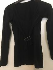METALICUS black ls top with drape/buckle detail -one size