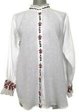 NEW, QUEENE AND BELLE WHITE COTTON BLOUSE, L, $1650
