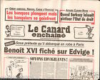 CANARD ENCHAINÉ Birthday Newspaper JOURNAL NAISSANCE 10 SEPTEMBRE SEPTEMBER 2008