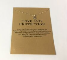 Love and Protection Hamsa hand necklace yellow gold tone small dainty minimalist