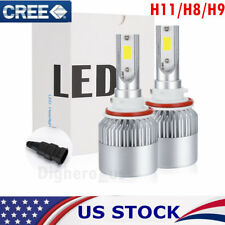 CREE LED HEADLIGHT KIT H11 H8 H9 1200W 168000LM 6500K HIGH BEAM Fog Bulb HID USA