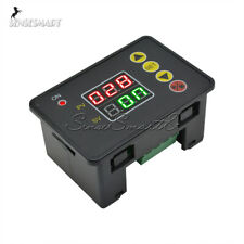 AC110V 10A Timing Delay Relay Module Cycle Timer Digital LED Dual Display 0-999s
