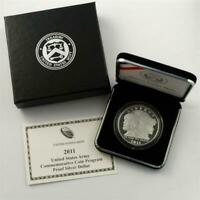 2011 Proof US Army Commemorative Silver Dollar $1 US Mint Coin Box and COA ARM3