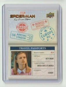 Spider-Man Far From Home Travel Passports Trading Card #PP-9 Betty Brant