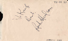 ROCK HUDSON - INSCRIBED SIGNATURE CIRCA 1952 CO-SIGNED BY: GINO CERVI