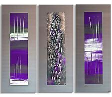 MK1 Art Bild Leinwand Abstrakt Gemälde Kunst Malerei Acryl Bilder lila grau XXL