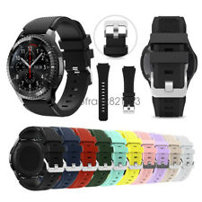 Silicone Sport Wrist Watch Band Strap For Samsung Gear S3 Classic/Frontier 22mm