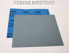 """3000 Grit  Wet / Dry Sand Paper  9""""x11"""" Sheets Package  Of 10"""
