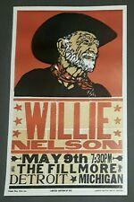 Willie Nelson #/50 Hatch Show Print The Fillmore Detroit, Mi 2010 Concert Poster