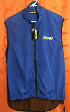 M NWT Royal Blue GT BICYCLES Windbreaker CYCLING VEST Embroidered REFLECTIVE