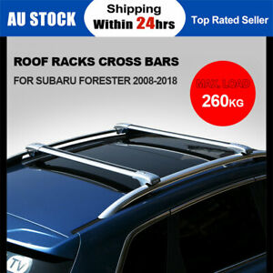 260KG Lockable Adjustment Roof Racks Cross Bars For SUBARU FORESTER 2008-2018