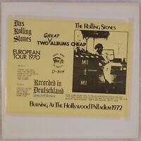 THE ROLLING STONES: European Tour 1970 TMOQ 2x LP Hollywood Palladium