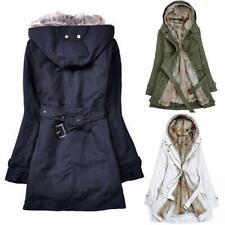 Mujer Invierno Gruesa Forro De Piel Cálido Parka Abrigo Prendas de abrigo chaqueta con capucha Abrigos