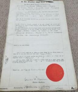 1923 Antique Probate Will of Harrogate Gentleman and Death Certificate