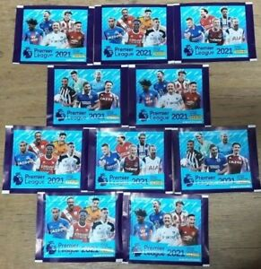 Panini ~ 2020/2021 Premier League Sticker Collection 2021 ~ 10 x Sealed Packs