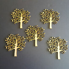 Pack of 5 Wooden MDF Tree Shape Craft Blank, Wedding, Decoupage Family Christmas
