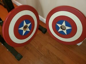 ONNIT Marvel Hero Elite Series Captain America Barbell Bumper Plates 25 lbs