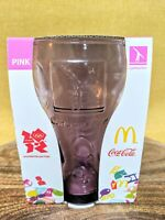 BNIB McDonald's LONDON OLYMPICS 2012 Coca Cola Collector glass GYMNASTICS PINK