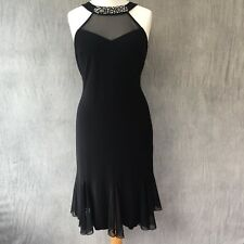 Joseph Ribkoff Dress 16 Black Sophisticated Evening Embellished cruise party A12