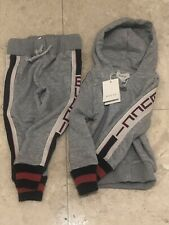 Kids Comfy Grey Or Navy Gucci track Jogging Size 2 Or 5 Youth Grey Only 4 Left!