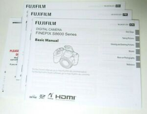 Genuine Fujifilm S8600 FinePix Instruction Manual Original - New