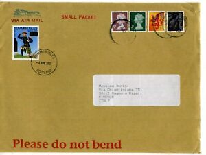 GB LARGE ENVELOPE SUMMER ISLES SCOUTING LABEL 2007 TO ITALY