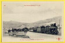 cpa Côte d'Azur TRAIN LOCOMOTIVE Chemins de Fer PARIS à LYON à la MEDITERRANEE