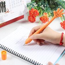 Nueva Divertida Doblez Mano Palma Gesto Bolígrafo Creativo Regalo Naranja