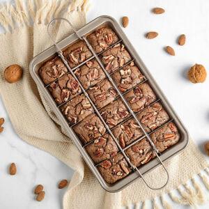 Non Stick Brownie Pan Tin DIY Baking Tray Square Cake Bakeware Utensil