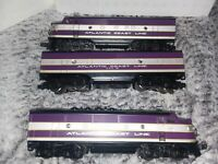 Lionel 6-11903 Atlantic Coast Line F3 A-B-A Diesel Locomotive Set