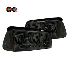 06-10 Dodge Charger Headlights + Corner Combo Smoked Tinted Amber Replacement