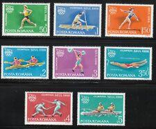 Romania 1988 MNH Mi 4475-4482 Sc 3525-3532 Seoul Olympic Games