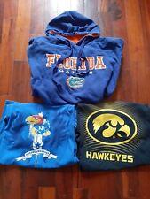 College Sports Clothing! Florida Hoodie! Kansas/Iowa Shirts! Size - Adult Large!