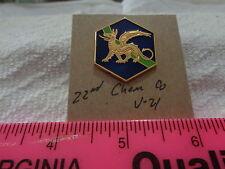 22nd Chemical Company V-21 Unit Crest, DI, DUI (DRAW#X3)