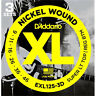 D'ADDARIO EXL125-3D SUPER LT/REG NICKEL WOUND ELECTRIC GUITAR STRINGS - 3 PACK