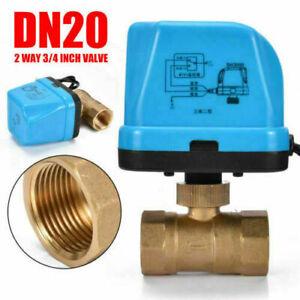 """Brass G3/4"""" DN20 2 Vie 220V Controllo Valvola a Sfera Elettrica Motorizzata"""