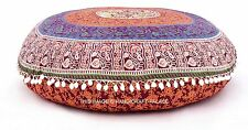 Indian Round Floor Pillow Cover Mandala Decor Meditation Cushion Cover Decor 32""