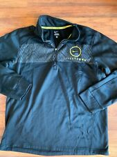 Nike L Livestrong Black and Yellow 1/4 Zip Long Sleeve Pullover