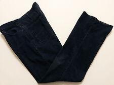 JC Penney Mens Pants Size 34x34 (Actual 34x33) Blue Corduroy Slacks Flat Front