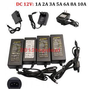 AC100V - 240V To DC12V 1A 5A 10A Power Supply Adapter Transformer For LED strip