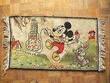 Tapis ancien MICKEY  Années 50 / 60   sans marque      Disney
