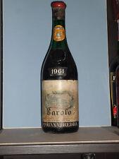 BAROLO  1961 FONTANAFREDDA etichetta rara    72 CL    ilvino.collezione