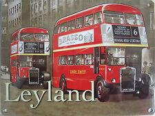 New 15x20cm Leyland Bus, London Transport retro metal advertising wall sign