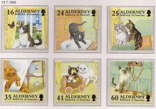 Guernsey Alderney 1996 Cats SG A89-A94MNH