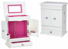 Bella- Girl's Pink and White Jewelry Box/Chest by Reed and Barton-New 566AP