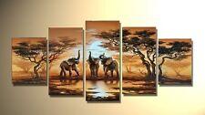 Handmade Wall Art Oil Paintings Home Decor Huge Modern Abstract - Elephant Sun