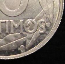 *GUTSE* FRANCO-588, 10 CÉNTIMOS 1959, ERROR (4d), CUÑO EMPASTADO, S/C