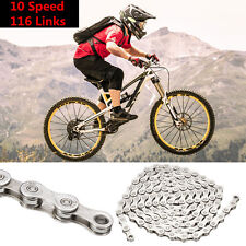 10 Speed 116 Links Bicycle MTB Mountain Road Bike Chain Anti-rust Durable