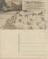 Ansichtskarte Pappritz-Dresden Fotomontage - Landkarte und Gasthaus 1913
